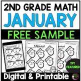 2nd Grade Math for January-FREEBIE