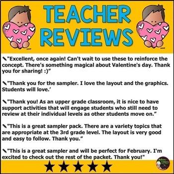 FREEBIE FROM: No Prep! Grade 3! Math for February!