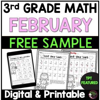 3rd Grade Math for February- FREEBIE