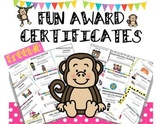 FREEBIE- FUN AWARD CERTIFICATES FOR THE END OF THE YEAR
