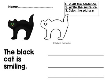 FREEBIE! FUN FALL Kindergarten & PreK Reading & Writing Practice