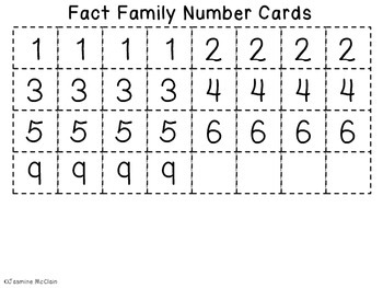 FREEBIE Fact Family Jamboree