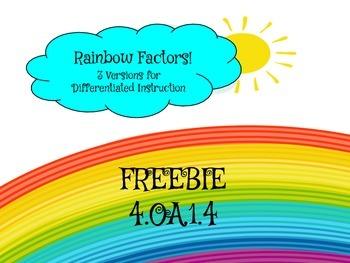 FREEBIE Factor Rainbows Differentiated Practice