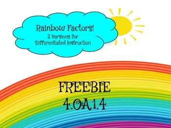 FREEBIE Factor Rainbows Differentiated Practice