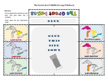 United States Geography / U.S. Physical Features Foldable