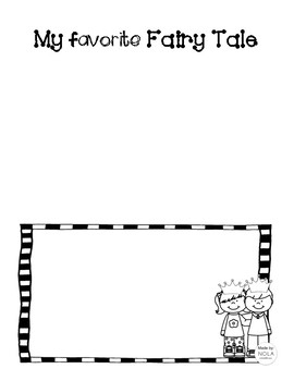 FREEBIE Fairy Tale Writing Activity