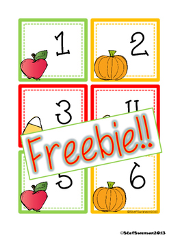 FREEBIE Fall Calendar Cards {ABCC Pattern}