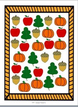 FREEBIE!  Fall Tally & Graphing Fun