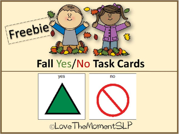 FREE Fall Yes/No Task Cards (AAC) For students with Autism