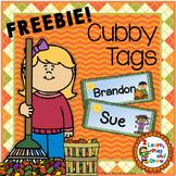 Fall cubby or desk name tags EDITABLE