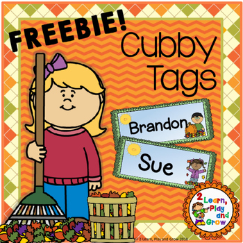Fall cubby or desk name tags EDITABLE