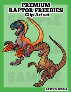 FREEBIE- Fancy Raptors Clip Art