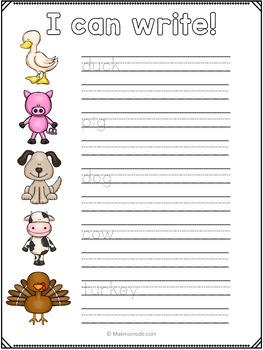 Farm Animals Vocabulary, Math and Literacy Unit FREEBIE