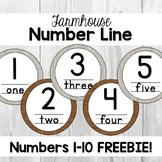 FREEBIE Farmhouse Number Line