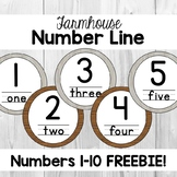 FREEBIE Farmhouse Number Line