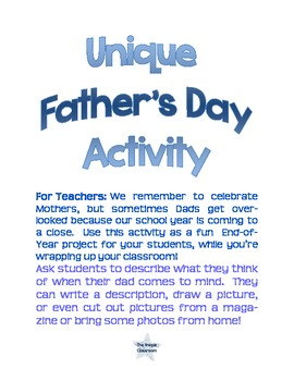 FREEBIE Father's Day Activity