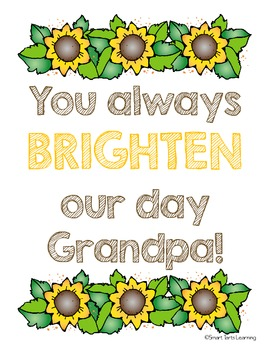**FREEBIE!** Father's Day Sunflower Card