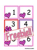 FREEBIE February Calendar Cards {AABC Pattern}