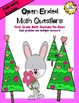 FREEBIE February Open-Ended Math Questions for Journals or