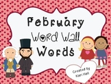 FREEBIE February Word Wall Vocabulary Words