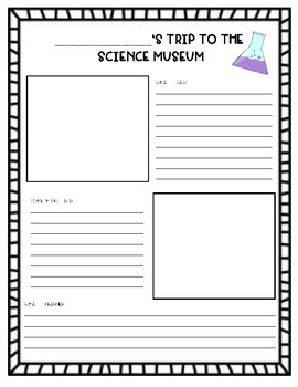 FREEBIE Field Trip Science Museum Writing
