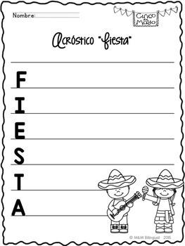 FREEBIE Fiesta Acrostic Poem {Spanish}