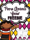 FREEBIE Fiesta Acrostic Poem {Spanish}