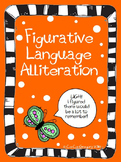 FREEBIE Figurative Language Alliteration Poster and Lesson Sample Set
