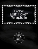 FREEBIE - Fillable Exit Ticket Template