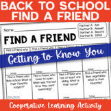 Back to School | Getting to Know You | Find a Friend | FREEBIE