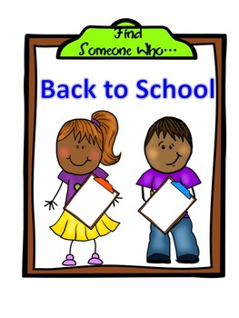 Back to School: Find Someone Who Has...