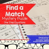 FREEBIE Find Your Match Mystery Puzzle- One Step Equations