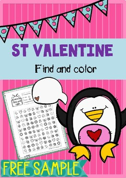 FREEBIE Find and color St Valentine ENGLISH