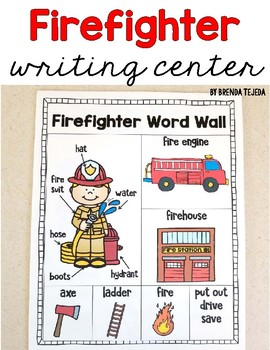 Free word walls resources lesson plans teachers pay teachers freebie firefighter word wall writing center sciox Gallery