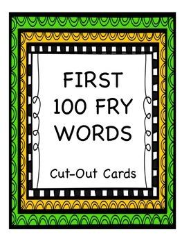 FREEBIE First 100 Fry Words