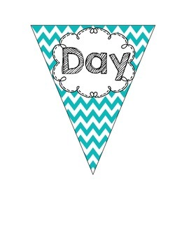 'FREEBIE' First Day of School Pennant Banner
