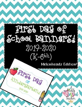 FREEBIE: First Day of School Posters