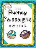 FREEBIE: First Grade Fluency Passages Levels F & G