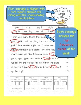 FREEBIE - First Grade Fluency Passages for Benchmark Advance Units 1-2