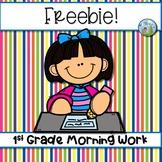 FREEBIE! First Grade Morning Work