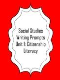 FREEBIE! First Grade Social Studies Writing Prompts