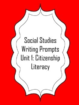 FREEBIE! First Grade Social Studies Writing Prompts