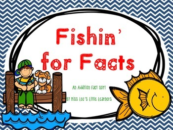***FREEBIE*** Fishin' For Facts - An Addition Fact Sort