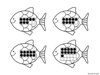 {FREEBIE} Fishing Fun! Matching Ten Frames to Numerals 1-20