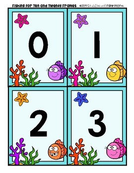 FREEBIE Fishing for Ten Frames by Education and Inspiration