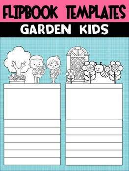 Editable Flipbook Templates : Garden Kids of Spring (Topper Version)