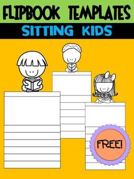FREEBIE : Flipbook Templates : Sitting Kids