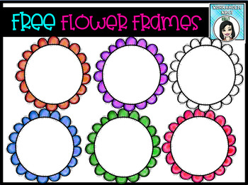 FREE Flower Frames Clip Art Set