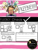 FREEBIE! Fluency Check for Fluency Friday