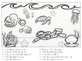 FREEBIE! - Following Directions - Ocean Theme